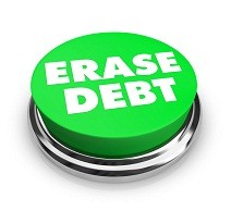 Erase Debt - Green Button