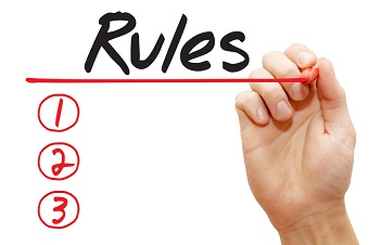 Hand writing Rules List, business concept